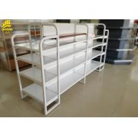 Buy cheap Light Duty Mini Store Display Racks Of MDF Board And Steel Board Q235 Cream White from wholesalers