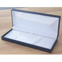 Buy cheap Rectangular Classic Blue plastic pen Boxes packed in Leatherette paper product