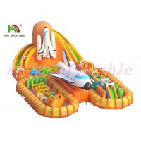 Buy cheap Fire - Retardant Giant  Inflatable Sports Games / Launching Base Unique  Blow Up Obstacle Course from wholesalers