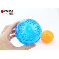 Buy cheap Flasing Floats Bright TPR Bouncy Pet Toys Light Up Dog Ball Orange / Blue from wholesalers