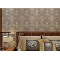 Buy cheap Washable Victorian Style Wallpaper For Living Room , Contemporary Damask Wallpaper Mould Proof from wholesalers