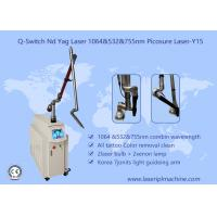 Buy cheap Pure White Q Switch Tattoo Removal Machine , Tattoo Laser Removal Equipment 1-10Hz from wholesalers