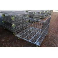 Buy cheap Warehouse Other Material Handling Equipment / Stacking Steel Wire Mesh Storage Cages from wholesalers