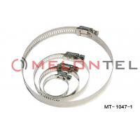 Buy cheap Durable FTTH Accessories , Worm Drive Hose Clamps Stainless Steel 12mm Width from wholesalers