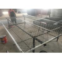 Buy cheap 16GA/ 1.6mm thick  1⅗(40mm) pipes cross brace chain wire mesh 2x2 (50mm x 50mm) 8ftx12ft construction temp fence from wholesalers
