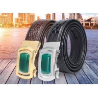 Buy cheap New alligator leather fashion casual belt alloy automatic buckle crocodile men's belts from wholesalers