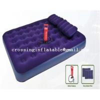 Buy cheap double size air bed with hand pump from wholesalers