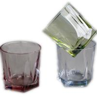 Buy cheap Top rated 215ml machine spray color whisky glass with five star from wholesalers