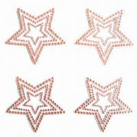 Buy cheap Acrylic sticker/crystal sticker, fashionable design, available in various sizes/designs, non-toxic product