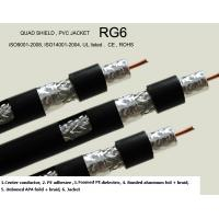 Buy cheap RG6, RG11, RG59,RG7 Quad-shield Coaxial Cable , CCS or CU from wholesalers