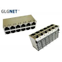 China 1000Base T Transformer POE RJ45 Connector Right Angle 12 Port In 2 Rows on sale