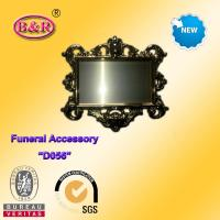 Buy cheap Zamak frame D057 Coffin Fitting gold color plate frame for funeral from wholesalers