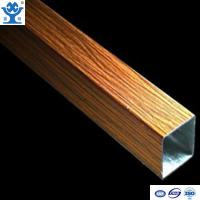 Buy cheap High quality wood effect 6000 series extruded rectangular tube aluminium from wholesalers