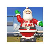 Buy cheap Giant Inflatable Santa Claus , Christmas Festival Use Inflatable Cartoon Characters from wholesalers