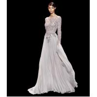 Buy cheap Appliqued Elie Saab Long Evening Party Dresses With Long Sleeves Evening Gowns from wholesalers