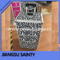 Buy cheap Black zebra pattern professional makeup trolley case from wholesalers