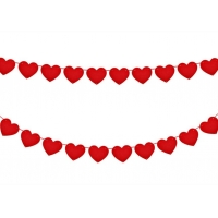 Buy cheap Red Love Decoration 3mm Felt Heart Garland from wholesalers