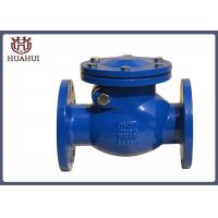Ductile Iron Flanged Check Valve DN50 Rubber Disc For Drainage System