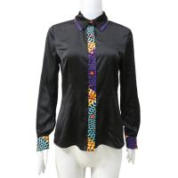 Buy cheap African Print Tops Satin Patchwork Long Sleeve Wax Print Patterns Women Shirt from wholesalers