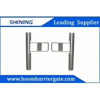 Buy cheap Supermarket Swing Barrier Gate / Traffic Barrier Gate With Barcode Scanner from wholesalers