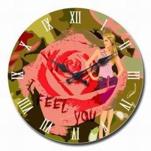 China Supply home decor glass clock/art clock on sale