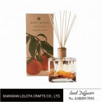 Buy cheap Wooden Top Lid Wooden Reed Diffuser Reed Diffuser With Dry Fruit And Flower And Folding Box from wholesalers