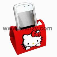 Buy cheap pvc rubber 3D cartoon kitty mobile phone holder for iphone from wholesalers