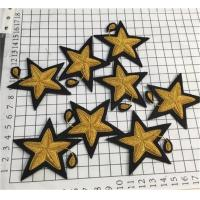 Buy cheap Bullion Wire Embroidered Badges Pairs of Small Golden Stars in Two Styles from wholesalers