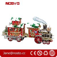 Buy cheap Papercraft Train KIT Puzzle for Kids 3D Constructor for Children,3D Christmas train from wholesalers