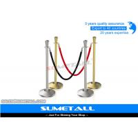 Buy cheap Stainless Steel Retractable Barrier Posts / Security Rope Barriers For Crowd Control from wholesalers