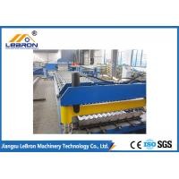 Buy cheap New blue color corrugated roof sheet roll forming machine made in China Automatic PLC Control from wholesalers