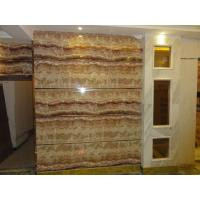 Buy cheap UV coating mable textured waterproof bathroom wall covering panels wainscot panels Sliding from wholesalers