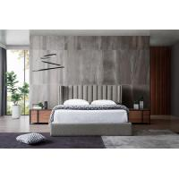Buy cheap Grey Velvet Fabric Bed With USB Connection , Small Double Velvet Bed from wholesalers