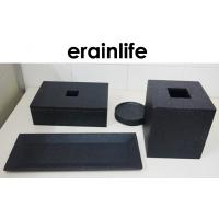 Buy cheap Black Hotel Guest Room Supplies Luxury Bath Products With Towel Tray product