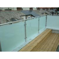 Buy cheap Hot sale frosted glass panel glass balustrade with inox baluster post design product