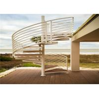 China Outdoor sprial stairs modern design with 316stainless steel railing on sale