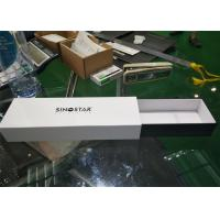Buy cheap Rectangle Long Small Jewelry Gift Box , Screen Printing White Watch Gift Box product