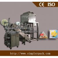 Buy cheap Pyramid Nylon Herbal Flower Tea Bag Packing Machine with Outer Envelope from wholesalers