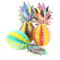 Buy cheap Multicolor Pineapple Summer Themes Decoration Honeycomb Poms from wholesalers