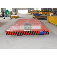 China Heavy Die transfer Car Electric Motor Driven Rail Flatbed Transfer Trolley For Industry Foundry Parts Handling on sale