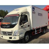 Buy cheap FOTON small refrigerated box trucks 4X2 fiberglass panel for fresh food transport from wholesalers