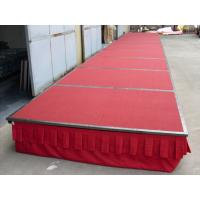 Buy cheap Folding Steel Aluminum Stage Platform Mobile Portable With Wheels / Carpet from wholesalers