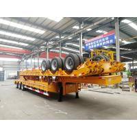 Buy cheap 100T Low Bed Heavy Duty Semi Trailers / 3 Axle Lowboy Trailer In Mechanical Suspension from wholesalers