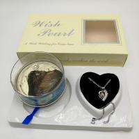 Buy cheap Wish Love Pearl Necklace Gift Set with Cage Pendant & Canned Freshwater Pearl DIY Fashion Jewelry from wholesalers
