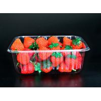 Buy cheap Disposable plastic fruit vegetable food packaging tray 500 grams strawberry packaging tray PET plastic box for fruit from wholesalers