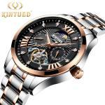 Buy cheap Metal Case Skeleton Mechanical Watch Minimalist Mechanical Watch from wholesalers