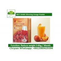 Buy cheap Peach Powder Leisure Slimming Juice , Fat Burning Fruit Juice For Weight Loss from wholesalers