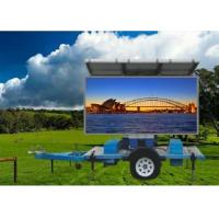 Buy cheap P10 Solar Powered led Mobile Sign Screen Trailer mounted for Outdoor Advertising from wholesalers