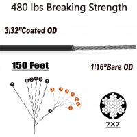 Buy cheap String Light Hanging Kit 150 FT Heavy Duty 10mm Wire Rope from wholesalers