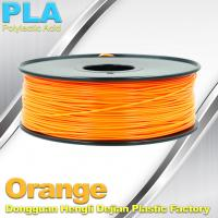 Buy cheap Biodegradable Orange PLA 3d Printer Filament  1.75mm Materials For 3D Printing product